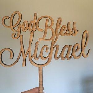 Custom cake topper - Michael